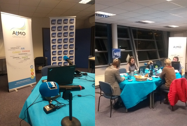 Emission la Matinale de France Bleu en direct d'ATMO Grand Est à Schiltigheim